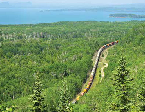Rail tracks through the northern bush