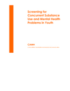 Screening for Concurrent Substance Use and Mental Health Problems in Youth PDF