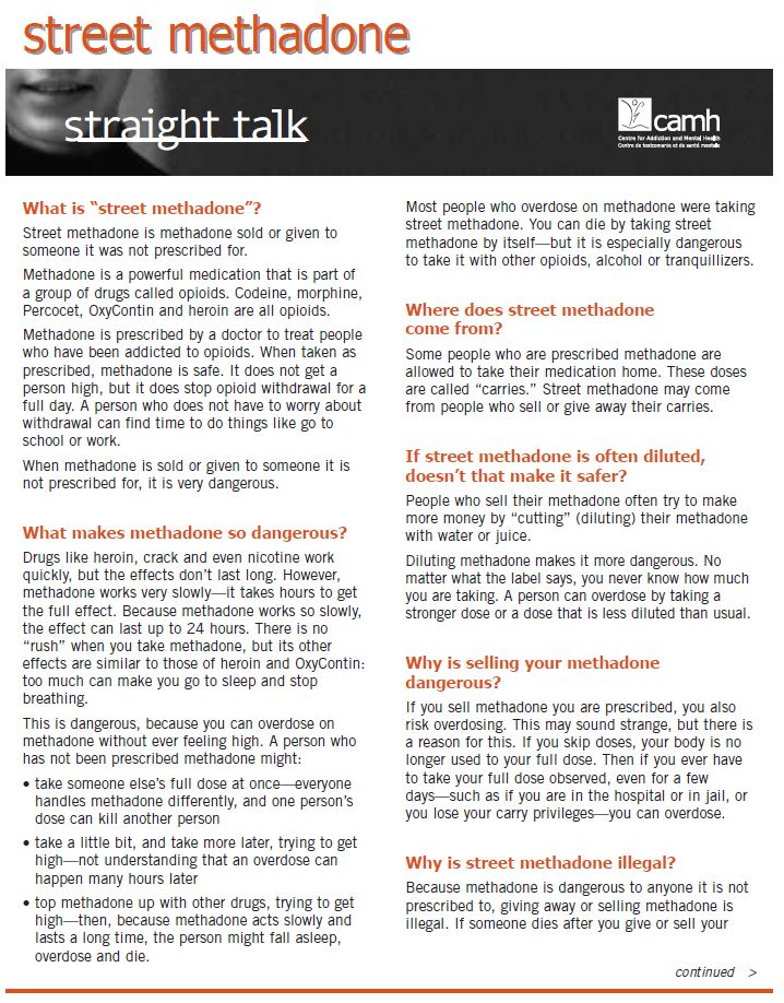 Straight Talk: Methadone